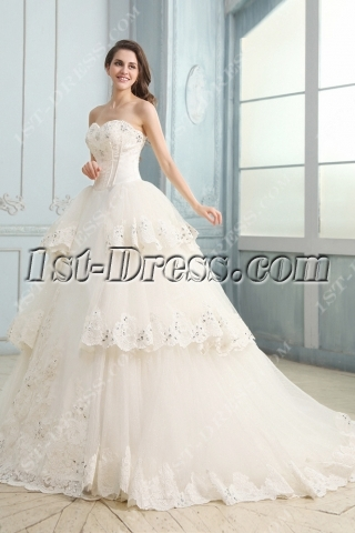 Fashionable Gothic Sweetheart Wedding Dress