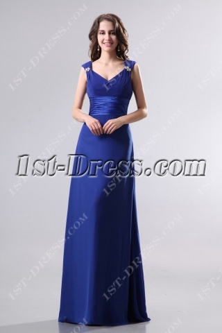 Formal Royal Long Chiffon Bridesmaid Dress