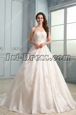 Graceful Long Taffeta Corset Sweetheart Wedding Dress
