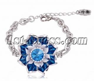 Jingdezhen Blue and White Porcelain Bracelet