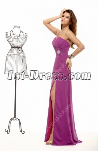 Lilac Criss-cross Summer Sexy Evening Dress 2013