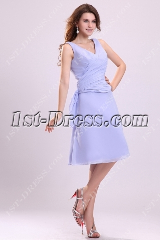 Modest Lavender Short Homecoming Dress