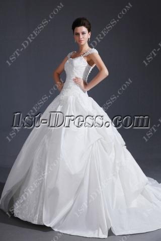 Popular Cap Sleeves 2013 Ball Gown Wedding Dress