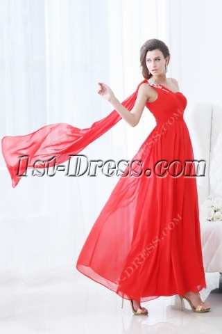 Pretty Red Ankle Length 2012 Prom Dress