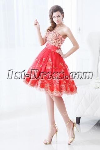 Pretty Red Short Vestidos de Quinceanera