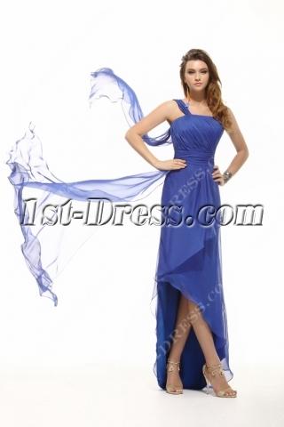 Royal Blue Romantic Summer Homecoming Dress