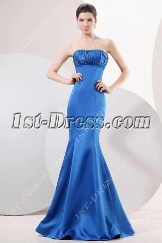Royal Blue Sheath Prom Dress 2011