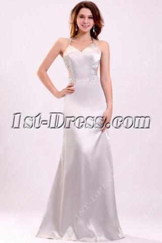 Sexy Silver Criss-cross Straps Celebrity Dress