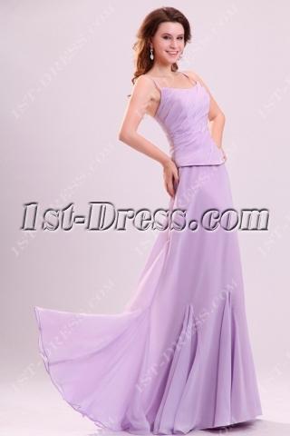 Stunning Lavender Long Chiffon Bridesmaid Dress in Summer