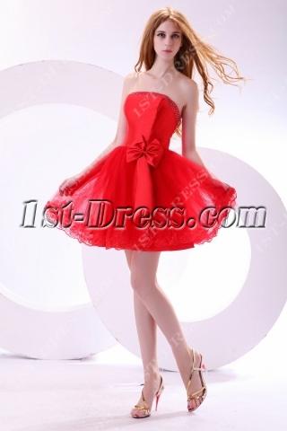 Sweet Red Short Princess Prom Dress