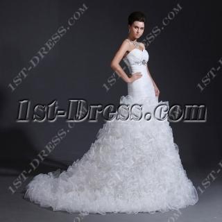 Sweetheart Mermaid Ruffled Wedding Dresses 2014