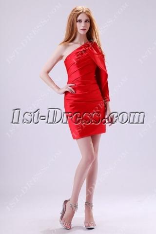 Unique Red Mini Cocktail Party Dress