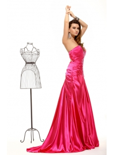 Amazing Hot Pink Summer Evening Dress