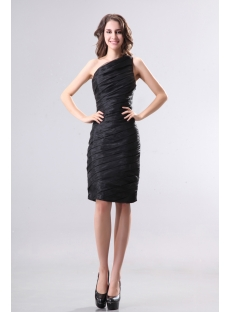 Asymmetrical Neckline Short Little Black Dresses