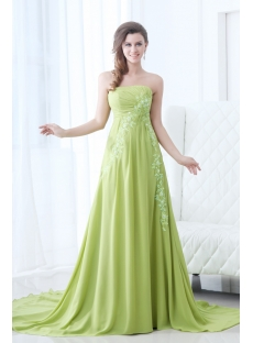 Attractive Green Chiffon Formal Evening Dress 2014