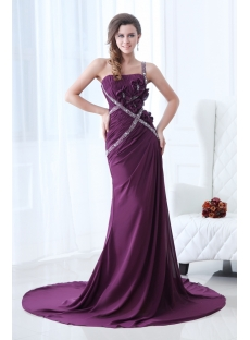 Beautiful Grape One Shoulder Evening Dress Sheath