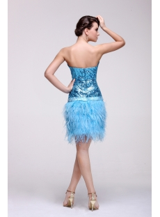 Blue Mini Short Sweetheart Prom Dresses