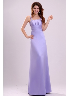 Bright Lavender Straps Cheap Bridesmaid Dress