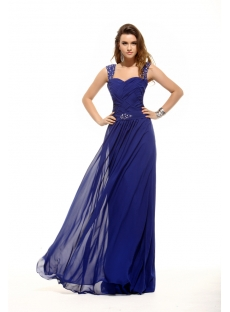 Brilliant Royal Blue Plus Size Prom Gown