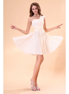 Champagne Chiffon Sweetheart Homecoming Dress