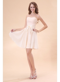 Champagne Strapless Sweetheart Junior Bridesmaid Gowns