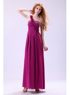 Charming Fuchsia Chiffon Pregnant Club Dress