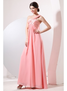 Charming Grecian One Shoulder Maternity Cocktail Dress