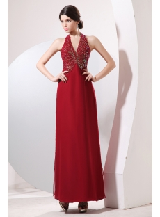 Charming Halter Mother of Groom Party Dress