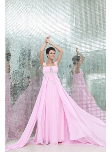 Charming Pink Pregnant Formal Evening Dress