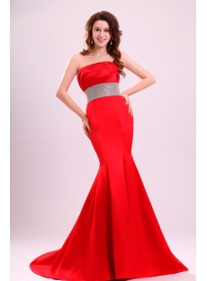 Charming Red Sheath Short Train Celebrity Dresses