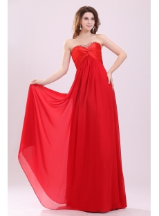 Charming Red Strapless Empire Plus Size Prom Dress
