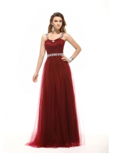 Chic Hot Burgundy Long Plus Size Prom Dress
