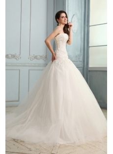 Concise Drop Waist Mermaid Wedding Dress