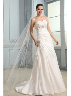 Concise Sheath Casual Bridal Gown with Small Train