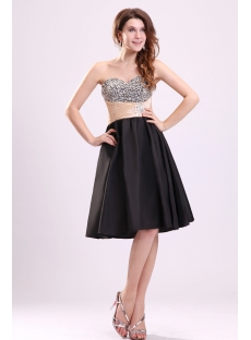 Cute Beaded Sweetheart Short Black Cocktail Dresses for Juniors