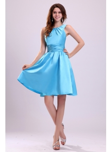Cute Blue Straps Short Junior Cocktail Dress:1st-dress.com