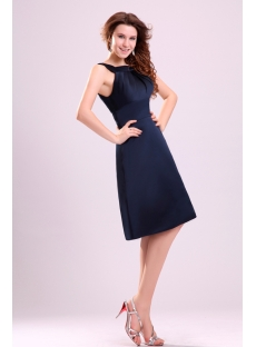 Cute Navy Blue Short Dress for Homecoming Party under 100