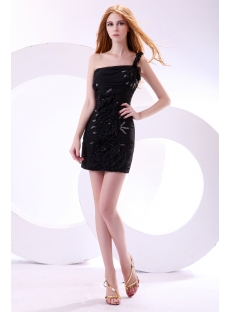 Cute One Shoulder Little Black Club Dresses