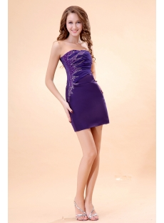 Cute Purple Mini Graduation Dresses