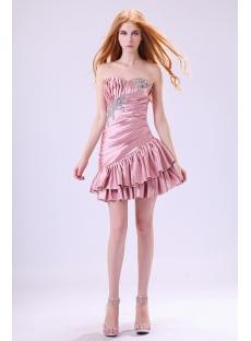 Dusty Rose Cute Junior Prom Dresses Short 2013