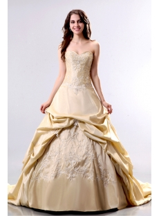 Elegant Champagne 2013 Bridal Gowns with Corset