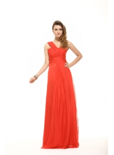 Elegant Red One Shoulder Empire Maternity Evening Dress