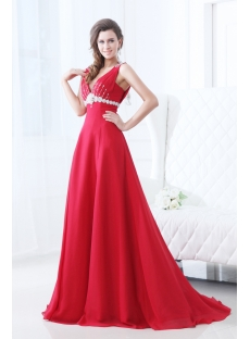 Elegant V-neckline Princess Prom Dress