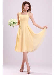 Elegant Yellow A-line Chiffon Homecoming Dress
