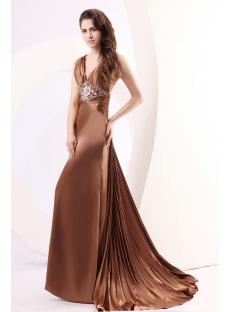Exquisite Bronzed Open Back Celebrity Dress