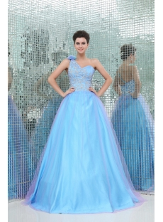 Exquisite One Shoulder 2013 Colorful Vestidos Para Quinceanera