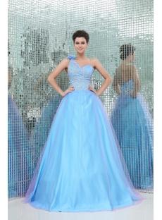Exquisite One Shoulder 2013 Colorful Vestidos Para Quinceanera