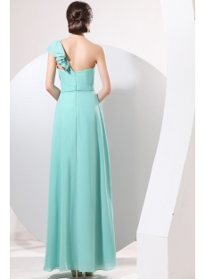 Exquisite Teal Blue 2014 Prom Dress One Shoulder
