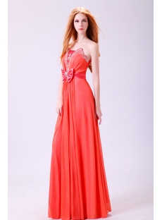 Exquisite Watermelon Strapless Prom Dress 2011