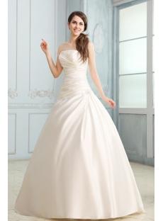 Fabulous Strapless A-line Satin Corset Wedding Dress